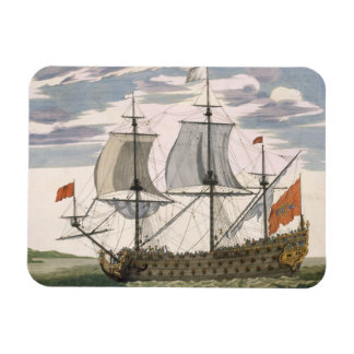 British Navy: a first-rate ship flying the White E Rectangular Photo Magnet