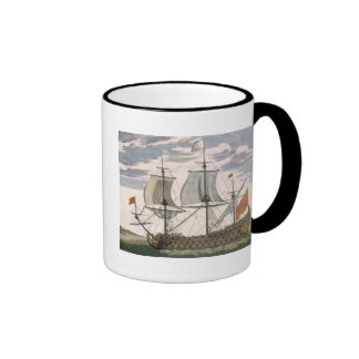 British Navy: a first-rate ship flying the White E Ringer Coffee Mug