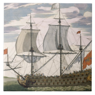 British Navy a first-rate ship flying the White E Tile