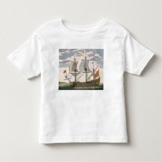British Navy: a first-rate ship flying the White E Toddler T-shirt