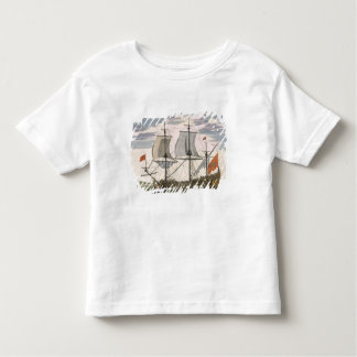 British Navy: a first-rate ship flying the White E Tshirt