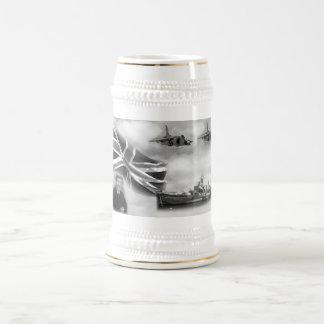 British Navy Commemorative Beer Stein