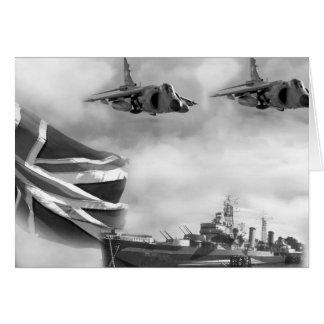 British Navy Commemorative Card
