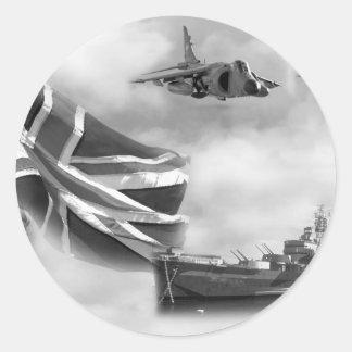 British Navy Commemorative Classic Round Sticker