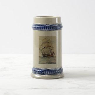 British Navy Ship Vintage Inspired Beer Stein Mug