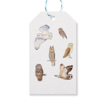 British owl species gift tags