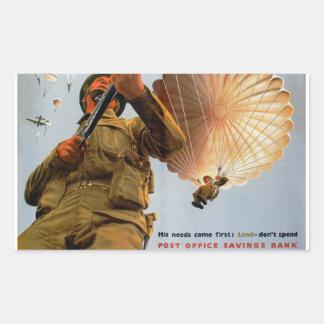 British Paratrooper ~ His Needs Come First Rectangular Sticker