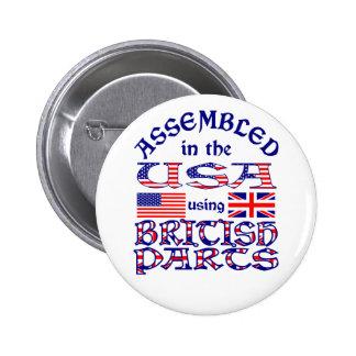 British Parts Pinback Button