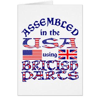 British Parts Card