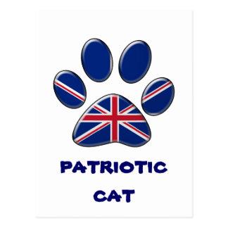 British patriotic cat postcard