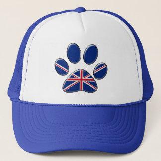 British patriotic cat trucker hat