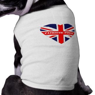 British Patriotic Pooch-Union Jack Heart Dog Tshirt