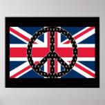 British Peace Skulls Print