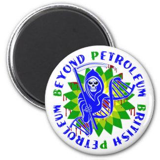 british petroleum blue plague fridge magnet