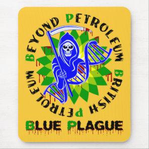 british petroleum blue plague mouse pad
