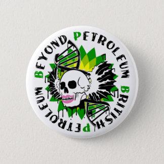 british petroleum blue plague pinback button