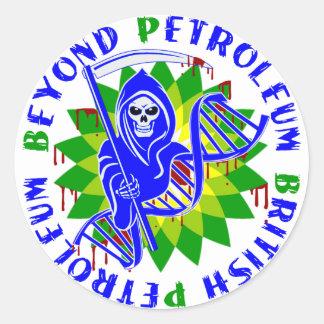 british petroleum blue plague stickers