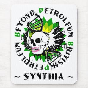 british petroleum blue plague synthia mouse pad