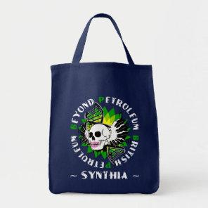 british petroleum blue plague synthia tote bag