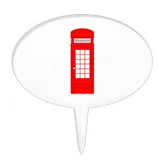 British Phone Booth Cake Toppers