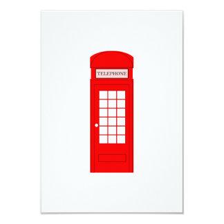 British Phone Booth 3.5x5 Paper Invitation Card