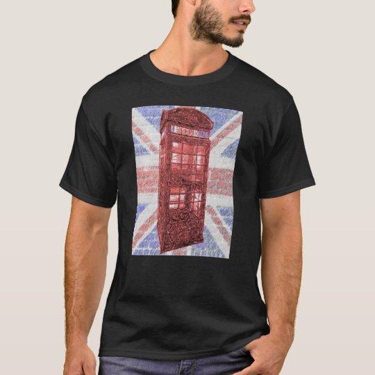 British Phone Booth Union Jack T-Shirt