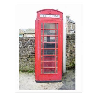 British Phone Box Card Postcard