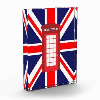 British phone box Union Jack flag Acrylic Award