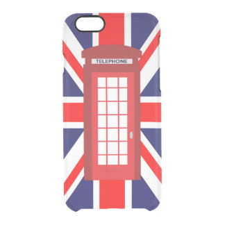 British phone box Union Jack flag Clear iPhone 6/6S Case