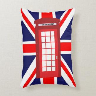 British phone box Union Jack flag Decorative Pillow