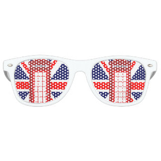 British phone box Union Jack flag Retro Sunglasses