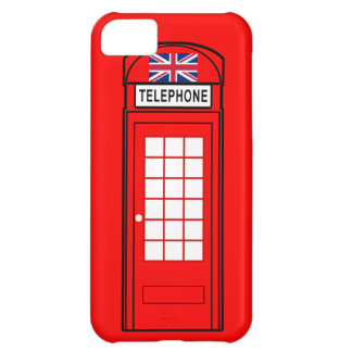 British Phone Box with Union Jack iPhone 5C Covers