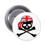 British Pirate Pinback Button