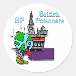 British Poisoner Round Sticker