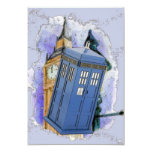 British Police Box Party Personalized Invites