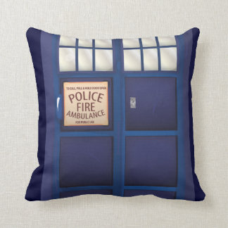 British Police Box Pillow