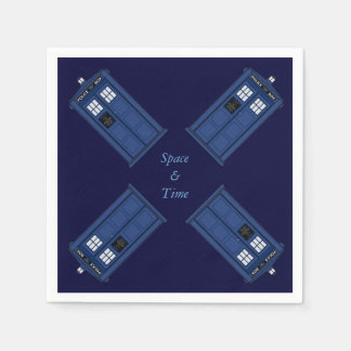 British Police Box Public Space geek party Paper Napkin