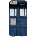 British Police Phone Call Box Retro 1960s Pattern Barely There iPhone 6 Plus Case