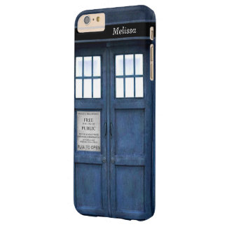 British Police Phone Call Box - Retro 1960s Style Barely There iPhone 6 Plus Case