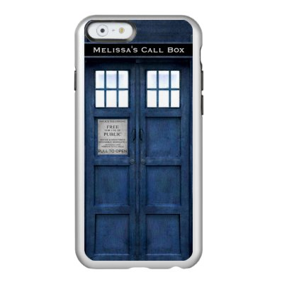 British Police Phone Call Box - Retro 1960s Style Incipio Feather® Shine iPhone 6 Case