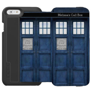 British Police Phone Call Box - Retro 1960s Style iPhone 6/6s Wallet Case