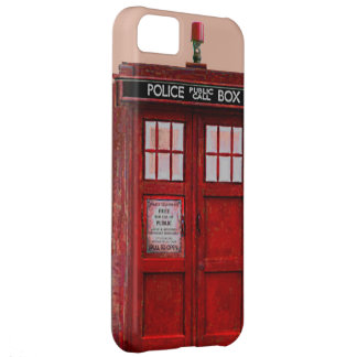 British Police Public Call Box iPhone 5 Case (red)