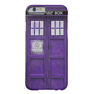 British Police Public Call Box (Purple) Barely There iPhone 6 Case