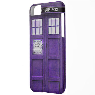 British Police Public Call Box (Purple) Cover For iPhone 5C