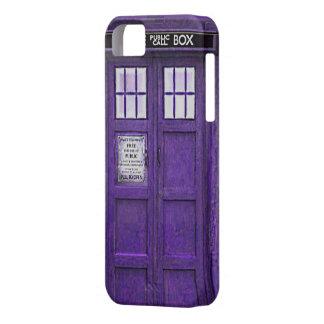 British Police Public Call Box (Purple) iPhone 5 Cases