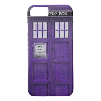 British Police Public Call Box (Purple) iPhone 7 Case