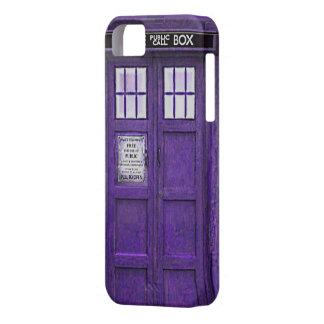 British Police Public Call Box (Purple) iPhone SE/5/5s Case