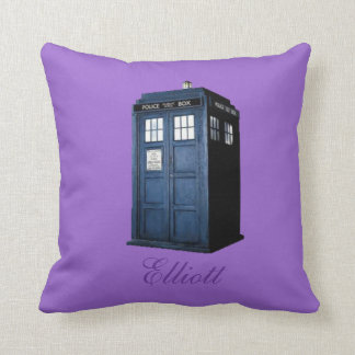 BRITISH POLICE TELEPHONE BOX PILLOW