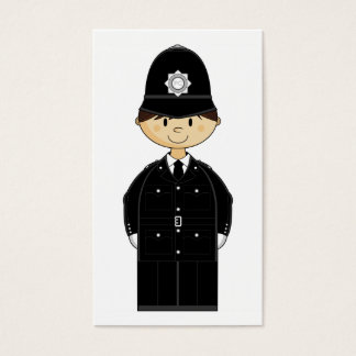 British Policeman Bookmark Business Card