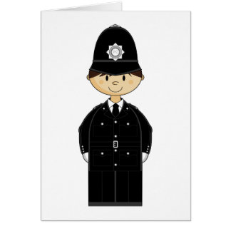 British Policeman Card